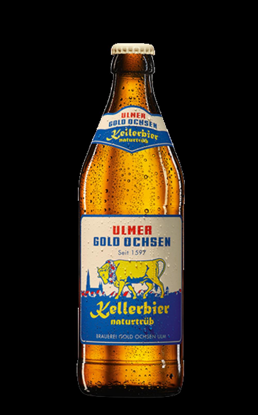 Gold Ochsen Kellerbier Naturtrüb Flasche