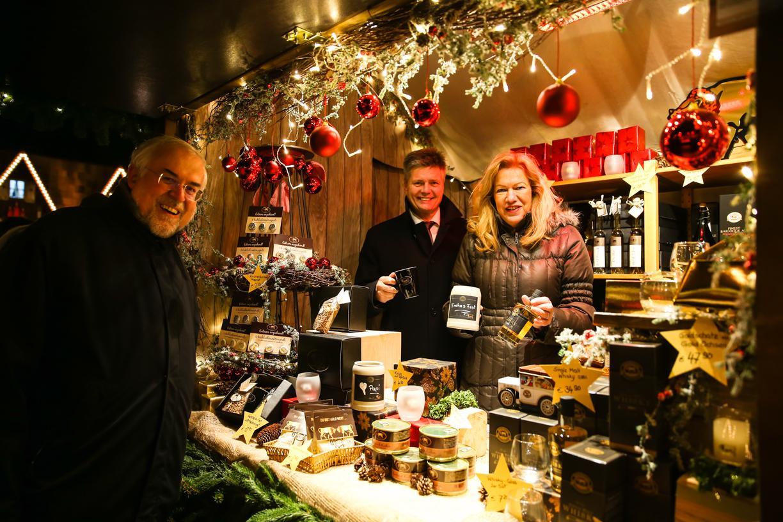 Brauerei Gold Ochsen auf dem Ulmer Weihnachtsmarkt