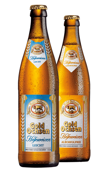 Gold Ochsen Hefeweizen Leicht und Hefeweizen Alkoholfrei