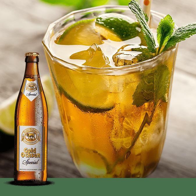 Ugo Special Drink mit Gold Ochsen Special