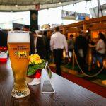 Ein frisch gezapftes Gold Ochsen Bier beim Ulmer Unternehmer Tag