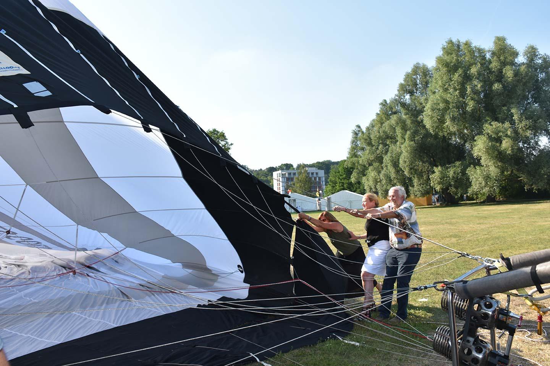 Heißluftballon Aufbau