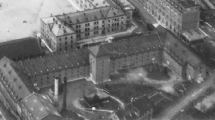 Luftbild des Provinzmagazins 1 von 1911 (Stadtarchiv Ulm)