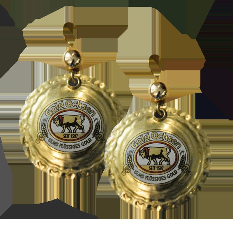 Kronkorken-Ohrringe von Gold Ochsen