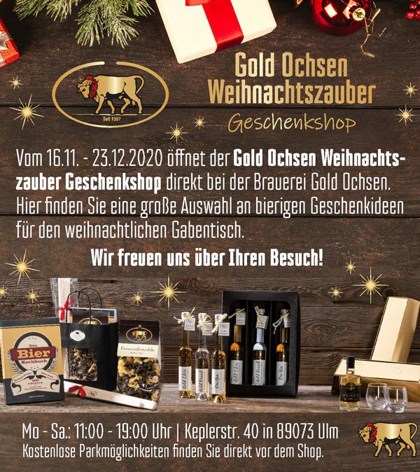 Gold Ochsen Weihnachtszauber