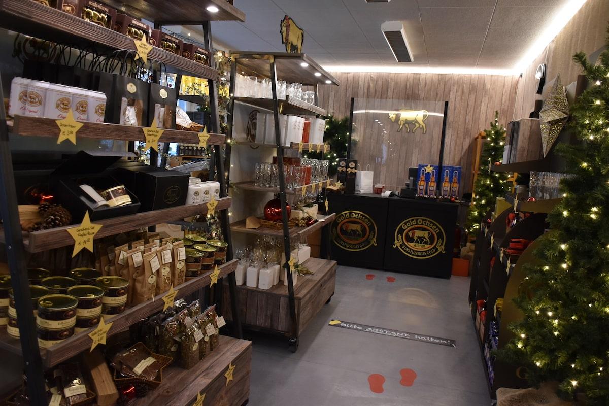 Gold Ochsen Weihnachtszauber Shop