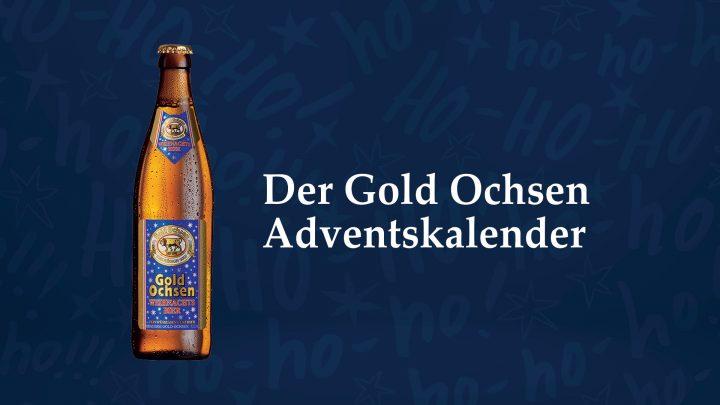 Gold Ochsen Adventskalender